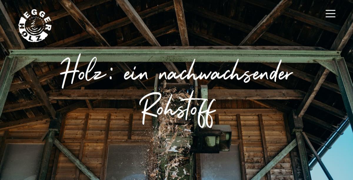Egger Holz Website Nachhaltigkeit